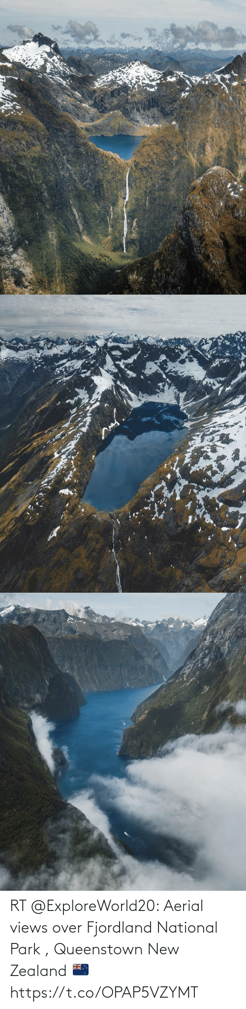views: RT @ExploreWorld20: Aerial views over Fjordland National Park , Queenstown New Zealand 🇳🇿 https://t.co/OPAP5VZYMT