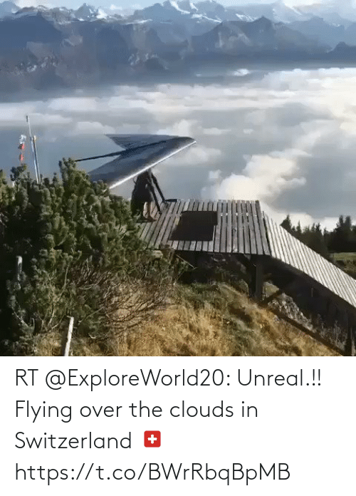 Flying: RT @ExploreWorld20: Unreal.!! Flying over the clouds in Switzerland 🇨🇭 https://t.co/BWrRbqBpMB