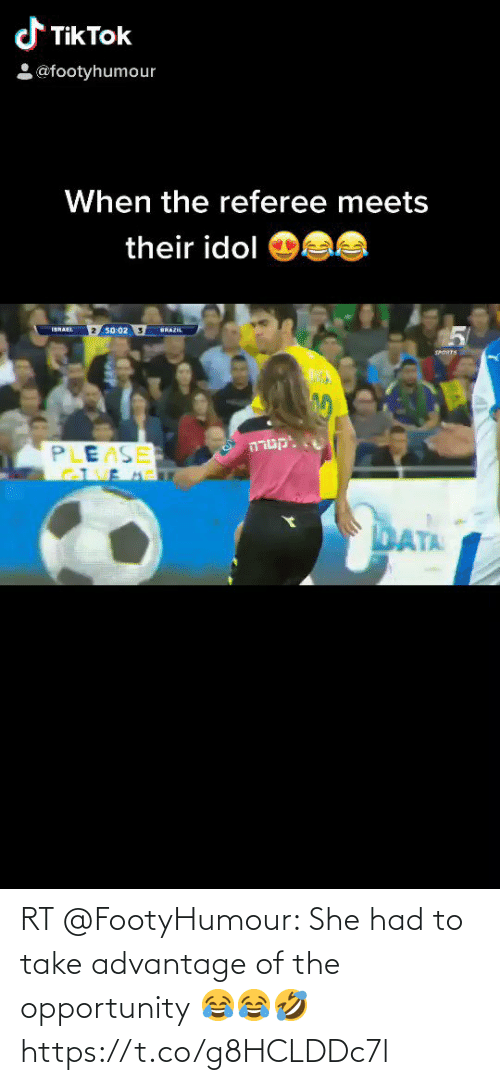 ballmemes.com: RT @FootyHumour: She had to take advantage of the opportunity 😂😂🤣 https://t.co/g8HCLDDc7l