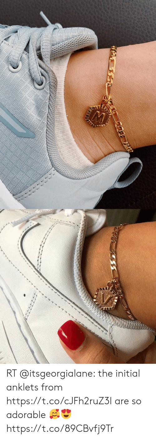 Adorable, Initial, and Anklets: RT @itsgeorgialane: the initial anklets from https://t.co/cJFh2ruZ3l are so adorable 🥰😍 https://t.co/89CBvfj9Tr