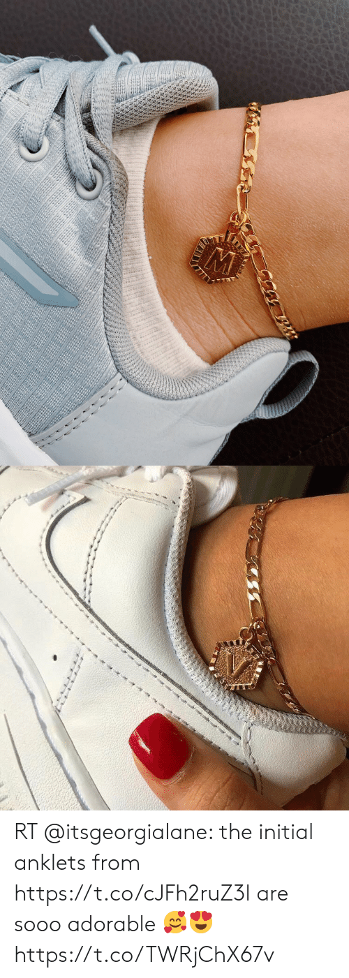 Adorable, Initial, and Anklets: RT @itsgeorgialane: the initial anklets from https://t.co/cJFh2ruZ3l are sooo adorable 🥰😍 https://t.co/TWRjChX67v