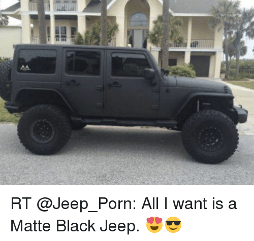 Matte Black Jeep >> Rt All I Want Is A Matte Black Jeep Funny Meme On