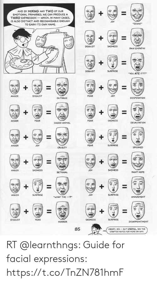guide: RT @learnthngs: Guide for facial expressions: https://t.co/TnZN781hmF