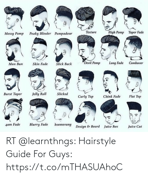 guide: RT @learnthngs: Hairstyle Guide For Guys: https://t.co/mTHASUAhoC