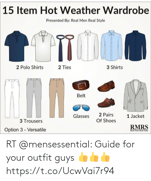 guide: RT @mensessentiaI: Guide for your outfit guys 👍👍👍 https://t.co/UcwVai7r94