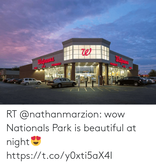 night: RT @nathanmarzion: wow Nationals Park is beautiful at night😍 https://t.co/y0xti5aX4I
