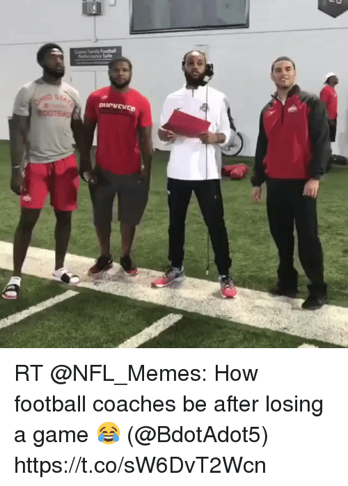 Football, Memes, and Nfl: RT @NFL_Memes: How football coaches be after losing a game 😂 (@BdotAdot5) https://t.co/sW6DvT2Wcn