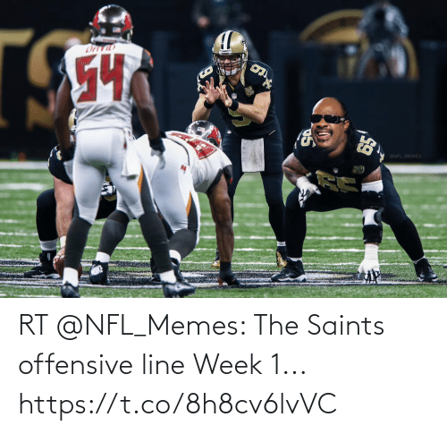 Football: RT @NFL_Memes: The Saints offensive line Week 1... https://t.co/8h8cv6lvVC