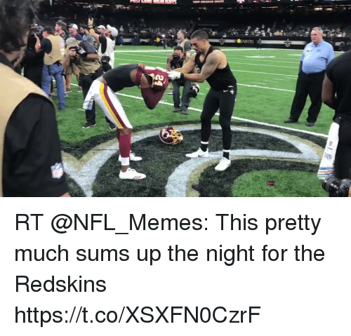 Memes, Nfl, and Washington Redskins: RT @NFL_Memes: This pretty much sums up the night for the Redskins https://t.co/XSXFN0CzrF