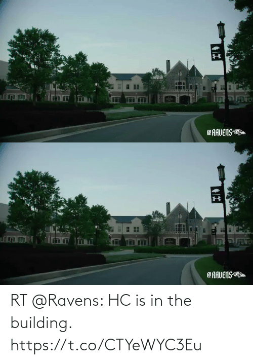 building: RT @Ravens: HC is in the building. https://t.co/CTYeWYC3Eu