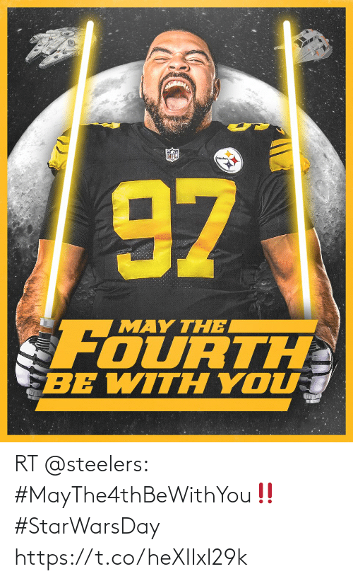Steelers: RT @steelers: #MayThe4thBeWithYou‼️  #StarWarsDay https://t.co/heXIIxl29k