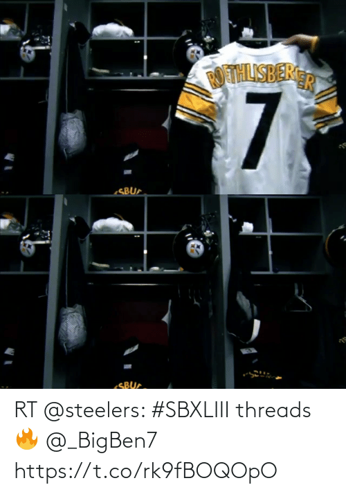 Steelers: RT @steelers: #SBXLIII threads 🔥  @_BigBen7 https://t.co/rk9fBOQOpO