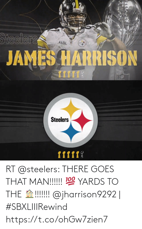 Steelers: RT @steelers: THERE GOES THAT MAN!!!!!! 💯 YARDS TO THE 🏠!!!!!!!  @jharrison9292 | #SBXLIIIRewind https://t.co/ohGw7zien7