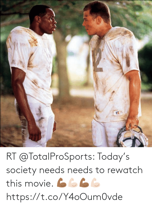 Football: RT @TotalProSports: Today's society needs needs to rewatch this movie. 💪🏾💪🏻💪🏾💪🏻 https://t.co/Y4oOum0vde