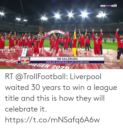 Trollfootball: RT @TrollFootball: Liverpool waited 30 years to win a league title and this is how they will celebrate it.  https://t.co/mNSafq6A6w