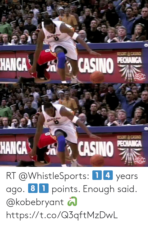ballmemes.com: RT @WhistleSports: 1️⃣4️⃣ years ago.   8️⃣1️⃣ points.   Enough said.   @kobebryant 🐍   https://t.co/Q3qftMzDwL