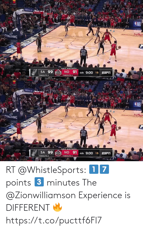 ballmemes.com: RT @WhistleSports: 1️⃣7️⃣ points  3️⃣ minutes  The @Zionwilliamson Experience is DIFFERENT 🔥 https://t.co/pucttf6Fl7