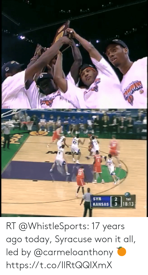 ballmemes.com: RT @WhistleSports: 17 years ago today, Syracuse won it all, led by @carmeloanthony 🍊 https://t.co/IlRtQQIXmX