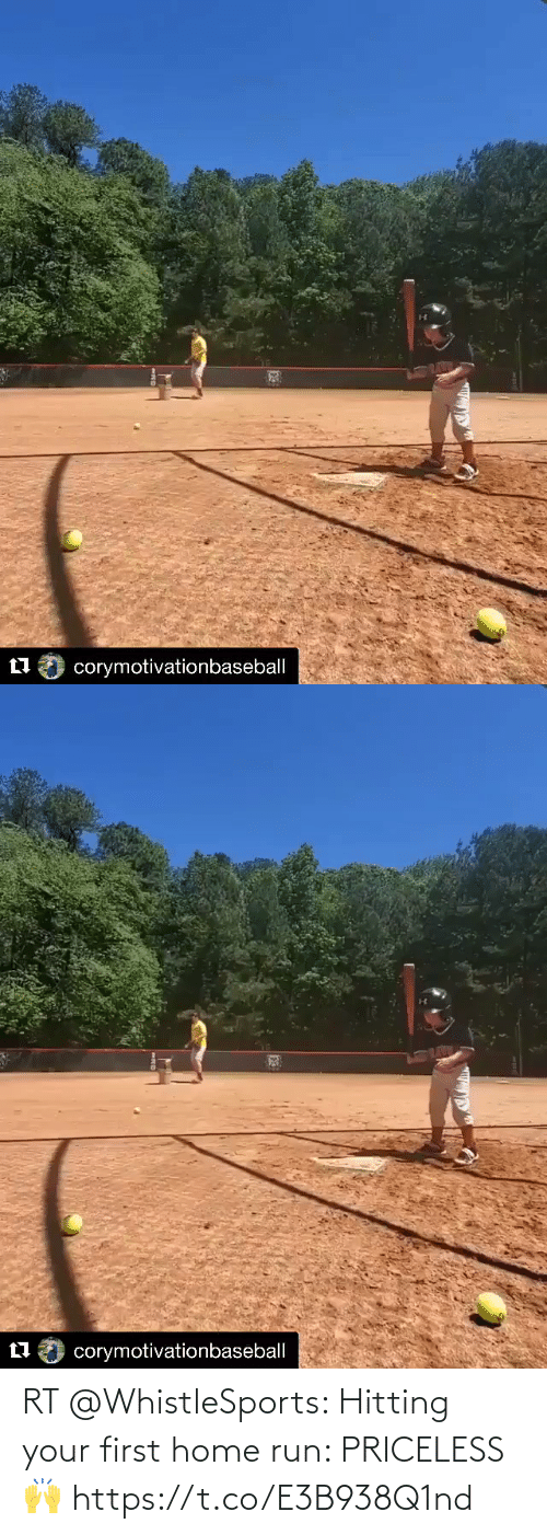 hitting: RT @WhistleSports: Hitting your first home run: PRICELESS 🙌 https://t.co/E3B938Q1nd