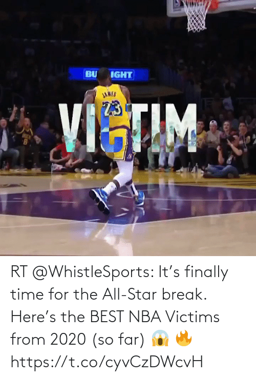 finally: RT @WhistleSports: It's finally time for the All-Star break.   Here's the BEST NBA Victims from 2020 (so far) 😱 🔥 https://t.co/cyvCzDWcvH