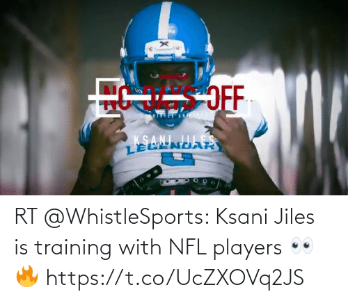 NFL: RT @WhistleSports: Ksani Jiles is training with NFL players 👀 🔥 https://t.co/UcZXOVq2JS