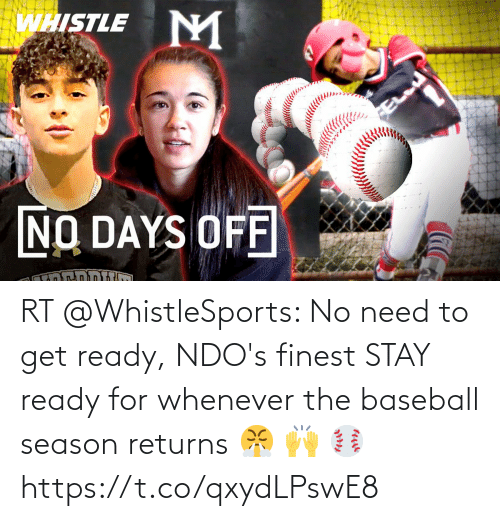 Baseball: RT @WhistleSports: No need to get ready, NDO's finest STAY ready for whenever the baseball season returns 😤 🙌 ⚾️ https://t.co/qxydLPswE8