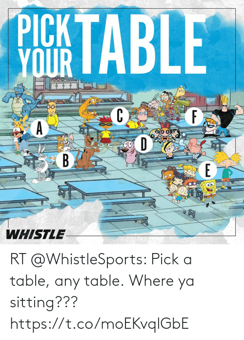 ballmemes.com: RT @WhistleSports: Pick a table, any table.  Where ya sitting??? https://t.co/moEKvqlGbE