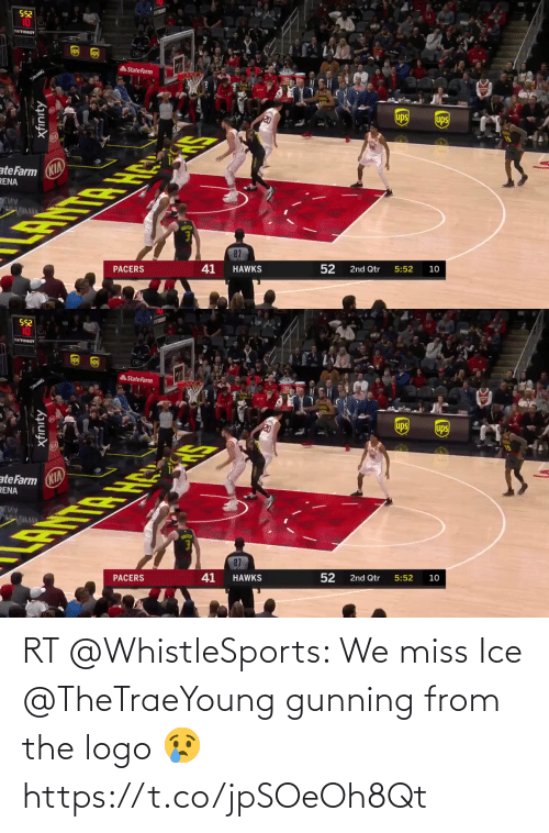 ballmemes.com: RT @WhistleSports: We miss Ice @TheTraeYoung gunning from the logo 😢 https://t.co/jpSOeOh8Qt