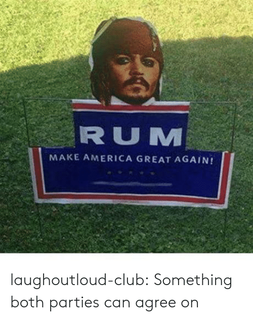 Make America Great: RUM  MAKE AMERICA GREAT AGAIN! laughoutloud-club:  Something both parties can agree on