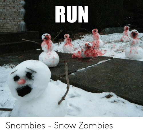 Run, Zombies, and Snow: RUN Snombies - Snow Zombies