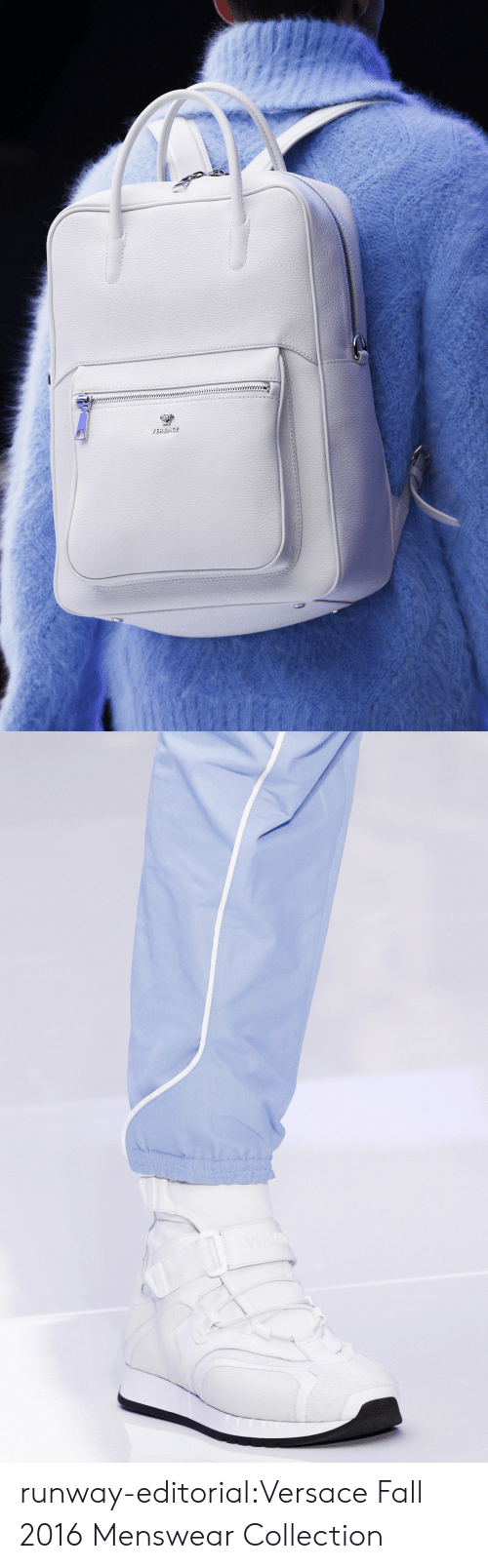 Fall, Tumblr, and Versace: runway-editorial:Versace Fall 2016 Menswear Collection