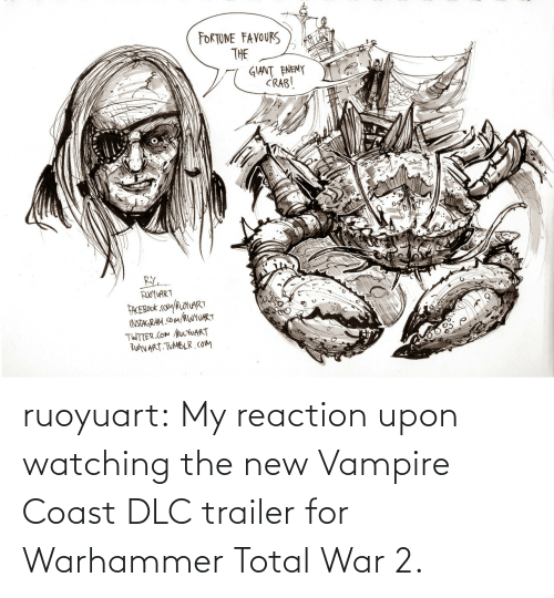 The New: ruoyuart:    My reaction upon watching the new Vampire Coast DLC trailer for Warhammer Total War 2.
