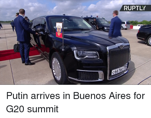 summit: RUPTLY  C66189 Putin arrives in Buenos Aires for G20 summit