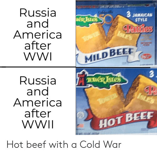 twd: Russia  and  America  after  WWI  CaldeB  3 JAMAICAN  STYLE  weR TSTES  Panstres  ISLES  TowER  MILD BEE  3.  Russia  and  America  after  WWII  TWD ISTES  ISLES  TosER  HOT BEEF Hot beef with a Cold War