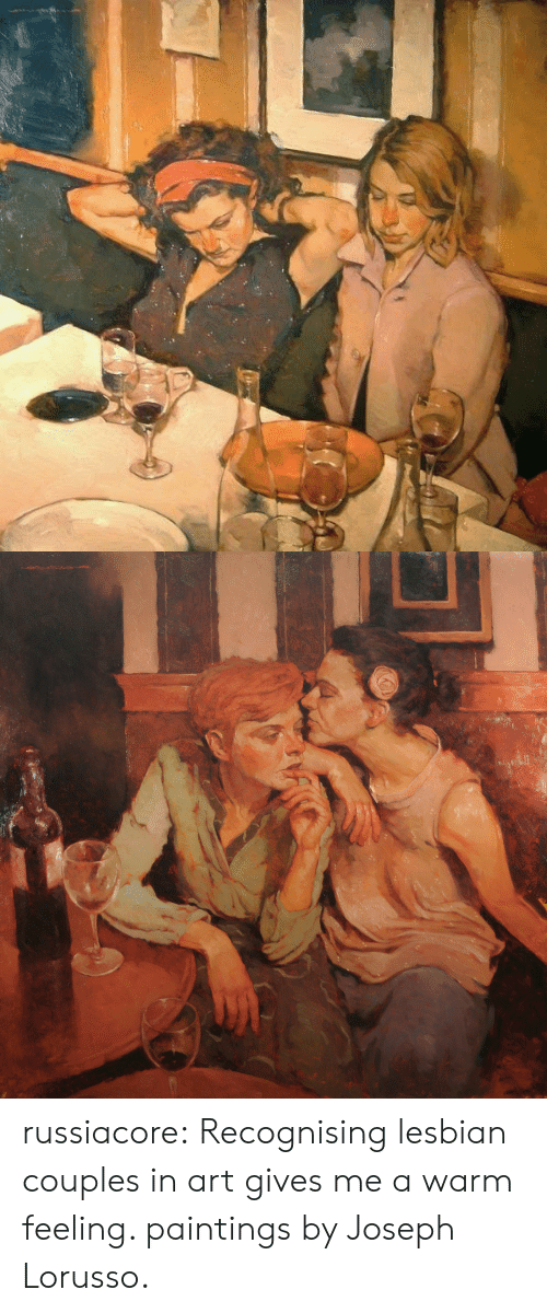 Paintings, Tumblr, and Blog: russiacore: Recognising lesbian couples in art gives me a warm feeling. paintings by Joseph Lorusso.