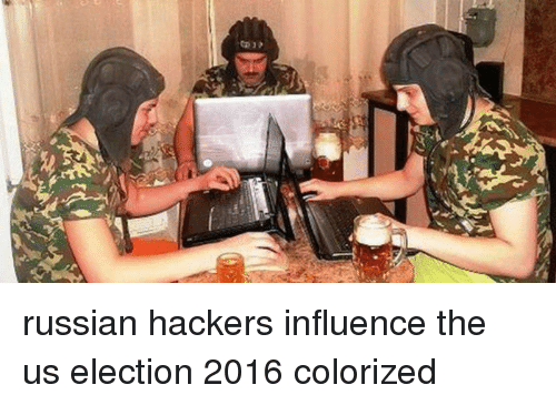 election 2016: russian hackers influence the us election 2016 colorized