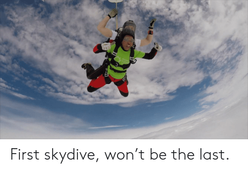 skydive: S Floren  Nighting First skydive, won't be the last.