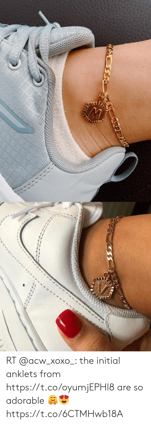 Memes, Adorable, and 🤖: S RT @acw_xoxo_: the initial anklets from https://t.co/oyumjEPHl8 are so adorable 🤗😍 https://t.co/6CTMHwb18A