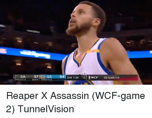 Basketball, Golden State Warriors, and Sports: SA  37  LAGS  64  2nd 1:36  16  SwCF GS leads 1-0 Reaper X Assassin (WCF-game 2) TunnelVision
