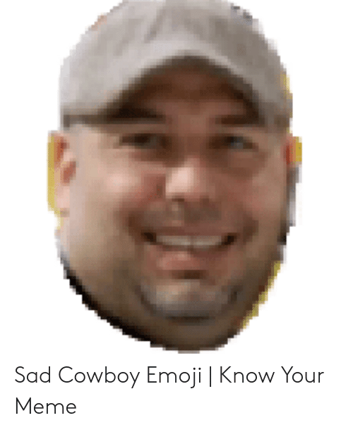 Sad Cowboy Emoji | Know Your Meme | Emoji Meme on ballmemes com