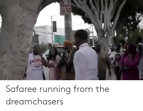 safaree: Safaree running from the dreamchasers