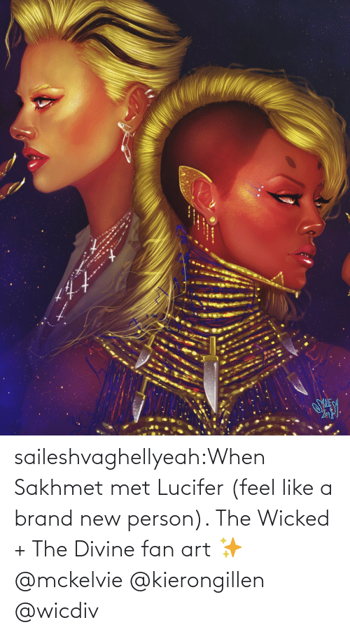 fan art: saileshvaghellyeah:When Sakhmet met Lucifer (feel like a brand new person). The Wicked + The Divine fan art ✨ @mckelvie @kierongillen @wicdiv