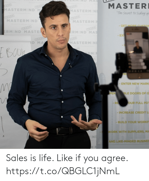 sales: Sales is life.   Like if you agree. https://t.co/QBGLC1jNmL