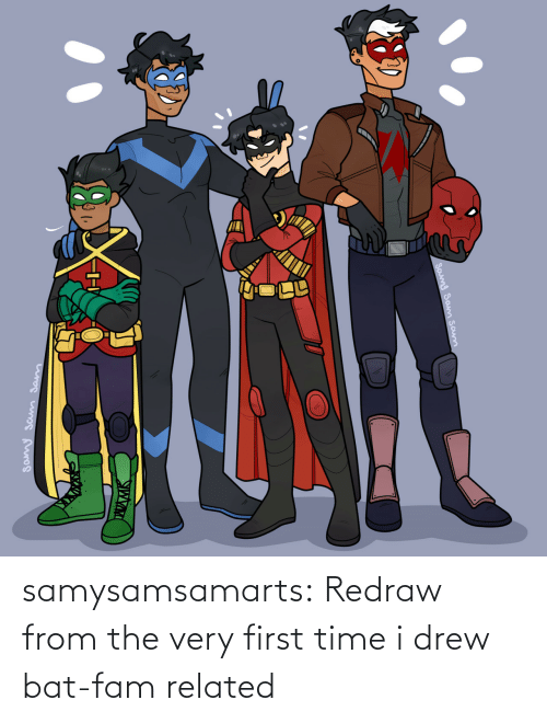 drew: samysamsamarts:  Redraw from the very first time i drew bat-fam related