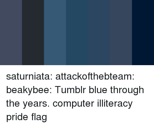 Target, Tumblr, and Blog: saturniata: attackofthebteam:  beakybee: Tumblr blue through the years. computer illiteracy pride flag