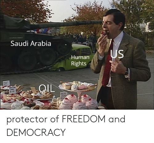Saudi Arabia: Saudi Arabia  Human  Rights  OlL  stif protector of FREEDOM and DEMOCRACY