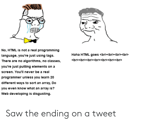 Ending: Saw the ending on a tweet