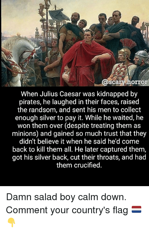 Scary Horror When Julius Caesar Was Kidnapped by Pirates He