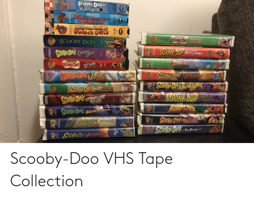 vhs: Scooby-Doo VHS Tape Collection