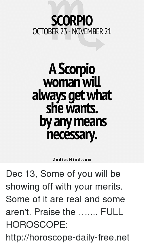 More Horoscopes for Scorpio